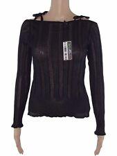 teddy maglia donna stretch nero made italy manica lunga taglia 4 l large