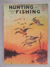 Hunting and Fishing Magazine - November, 1939
