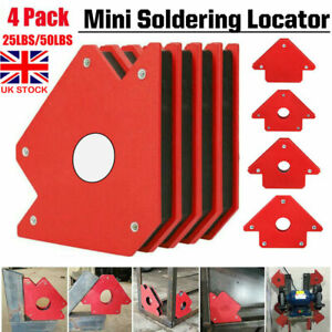 4X 25/50LB Welding Magnet Right Angle Square Holder Soldering Clamp Hold Metal