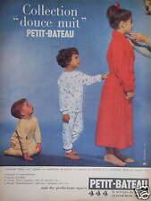 PUBLICITÉ VÊTEMENTS ENFANTS PETIT BATEAU COLLECTION DOUCE NUIT