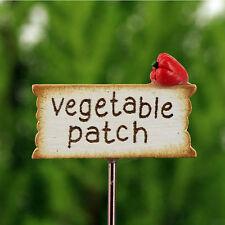 Vegetable Patch Miniature Sign ~ Fairy  Vegetable Garden ~  Handmade by Jennifer