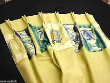 DESIGNER CURTAINS - HAND LINED LONG TALL WINDOW CURTAINS DRAPES