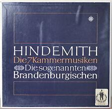 HINDEMITH: Die 7 Kammermusiken-M1975 3LP BOX GERMAN IMPORT JAAP SCHRODER w/ BOOK