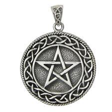 Sterling Silver Solid Celtic Knot Pentacle Pentagram Pendant Knotwork Jewelry
