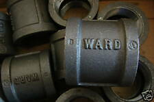 """WARD 1-1/2"""" BLACK MALLEABLE EQUAL COUPLINGS (LOT OF 10)"""