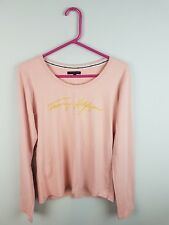 cd8ab07bf VTG RETRO WOMENS PINK USA ATHLETIC SPORTS TOMMY HILFIGER TOP VGC UK 10-12