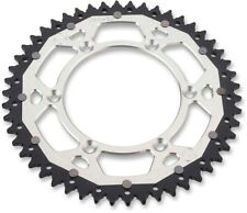 52T Silver Dual Rear Sprocket Moose 1210-1527 For 90-19 KTM Husaberg Husqvarna