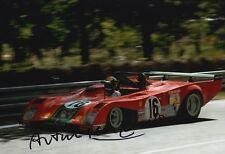 Arturo Merzario Firmato a Mano 12x8 FOTO FERRARI LE MANS 10.