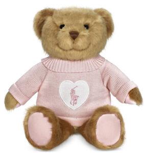2021 RALPH LAUREN ROMANCE POLO TEDDY BEAR PINK SWEATER TAN BROWN NEW IN BOX.