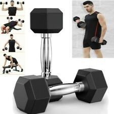 10 - 50lb  Weight Dumbbell Set Cap Gym Barbell Plates Body Workout Home Workout