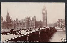 London Postcard - Houses of Parliament & Westminster Bridge   RS571