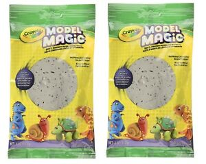 Crayola Model Magic Gray Modeling Clay Alternative Home Crafts for Kids - 2 Pack