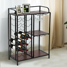 7-tier 21 Bottles Wine Rack Storage Display Shelves Kitchen Free Standing Holder