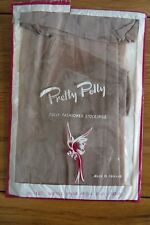 Vintage Pretty Polly Fully Fashioned Stockings 32/33 Pecan Beige