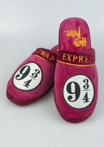 Harry Potter Hogwarts 9 3/4 Ladies Womens slippers Adult Soft Xmas Christmas