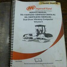 Ingersoll Rand Dd158hfa Vibratory Dual Drum Compactor Shop Service Repair Manual