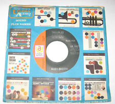 """Audi Badoo 7"""" 45 DJ PROMO HEAR GARAGE ROCK Troubles I Don't Know How You Do The"""
