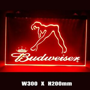 New Budweiser Sexy Beer Pub Bar Man Cave Decor Led Neon Light Sign Gift Advertis