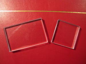transparenter Acryl-Stempelblock Farbverfahren Werkzeug DIY Scrapbooking 10 x 6 x 1 cm Transparent Panamami Leichter rechteckige Form Stempel