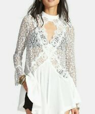 NWT Free People tell tale lace Tunic Retail $128 size L