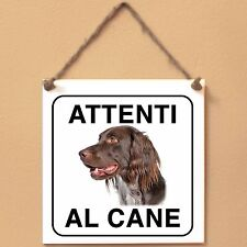 Munsterlander 4 Attenti al cane Targa cane cartello ceramic tiles