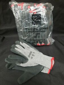 NEW PACK OF 12 ** SINOPS **  MAXI GRIP COMFY XL SIZE 10 YARD GLOVES GARDENING
