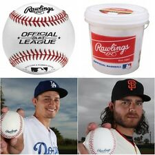 Baseballs 2 Dozen Bucket League Size Outdoor Training Rawlings Leather New