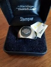 #386 NWT Harley-Davidson men's Stamper ring, titanium, size 11.5