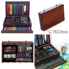 Art 101 142 Piece Wood Set pencils crayons brushes NEW