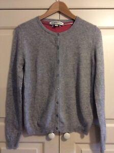 BNNT Clements Ribeiro 100% Cashmere Cardigan Size XL, UK 16, EU 42 Dove Grey