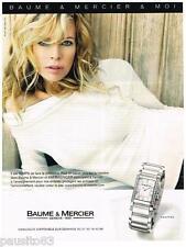 PUBLICITE ADVERTISING 095  2007  BAUME & MERCIER  montre HAMPTON & KIM BASINGER