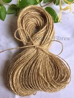50M Mts Soft Natural Brown Jute Hessian Burlap Rustic Twine Sisal String Cord