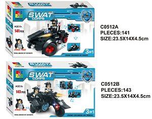 2er Set WOMA Bausteine SWAT Team Fahrzeuge C0512A C01512B Spar-Angebot