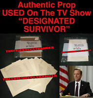 "Rare KIRKMAN ""DESIGNATED SURVIVOR"" BRIEFING FILES PROP Ep 3003 Kiefer Sutherland"