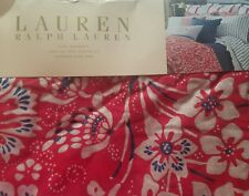 New Ralph Lauren Villa Martine Red Floral King Bed Skirt