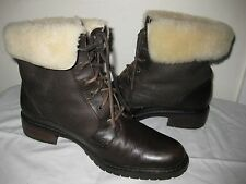 Santana Canada Leather Brown Winter  Boots Woman's Shoes Size 7.5 M