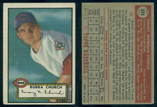 (53227) 1952 Topps 323 Bubba Church Reds-VG
