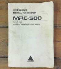 Vintage Instruction / User Manual for Roland MRC-500 Composer Sequencer