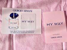 Giorgio Armani My Way EAU DE Parfum 1.2ml Sample With Perfume Card ~ Brand NEW