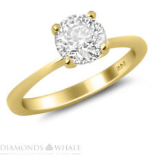 14K Yellow Gold Solitaire Diamond Ring 0.8 Ct Si2/D Wedding Ring Enhanced