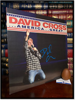 America Great ✎SIGNED♫ by DAVID CROSS Stand Up Comedy LP Vinyl Album Beckett COA
