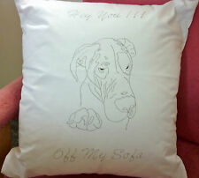 Great Dane Dog Freestyle Embroidery printed Cushion Cover  embroider CSO100