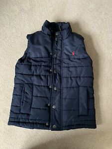 Joules Match Day Boys Gilet Age 7-8 Navy