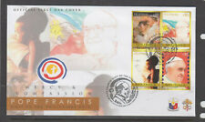Philippine Stamps 2015 Pope Francis Pastoral Visit Block of 4 set FDC