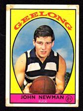1968A SCANLENS VFL CARD - JOHN NEWMAN - GEELONG  #21