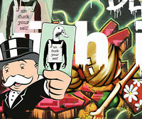 Alec Monopoly style Art Painting Original canvas Print Poster duck money man