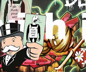 Alec Monopoly style Art Painting Original canvas Print Poster duck money man
