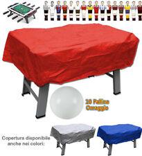 Calcio balilla copertura rossa x interno ed esterno universale palline omaggio
