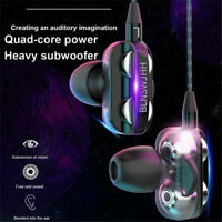 HIFI 3.5mm With Mic Super Bass In ear Stereo Earbuds Headset Headphone Earphone