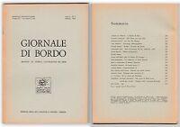 GIORNALE DI BORDO MENSILE DI STORIA LETTERATURA ARTE ANNO I N.5   1968